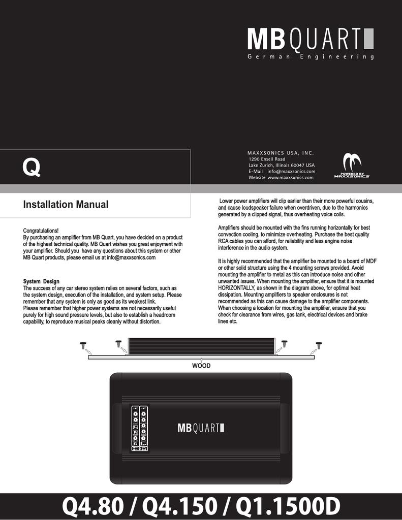 hight resolution of mb quart q4 80 installation manual
