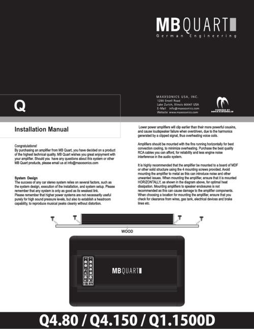 small resolution of mb quart q4 80 installation manual