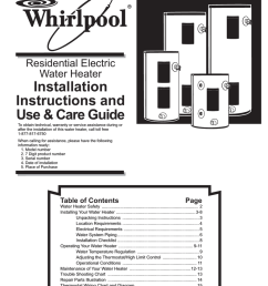 whirlpool bfg1f4040t3nov use care guide residential electric water heater  [ 791 x 1024 Pixel ]