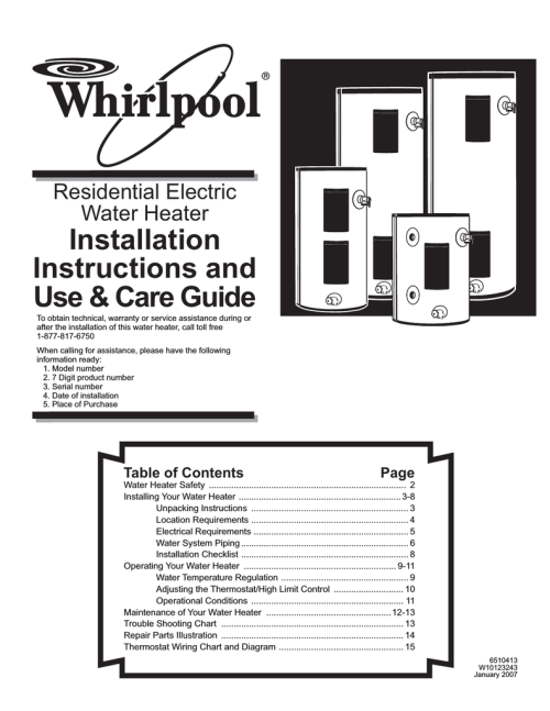 small resolution of whirlpool bfg1f4040t3nov use care guide residential electric water heater