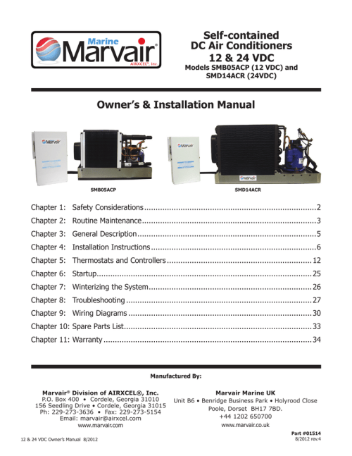 small resolution of marine marvair smm05acp installation manual manualzz commarvair air conditioners wiring diagrams 3