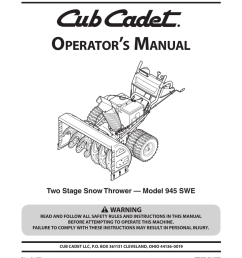 cub cadet 945 swe two stage snow thrower operator s manual [ 791 x 1024 Pixel ]