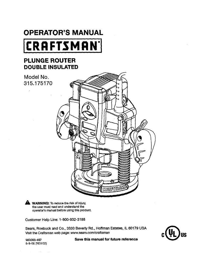 Craftsman 315 Rouer Wiring Diagram Free Download • Oasis-dl.co