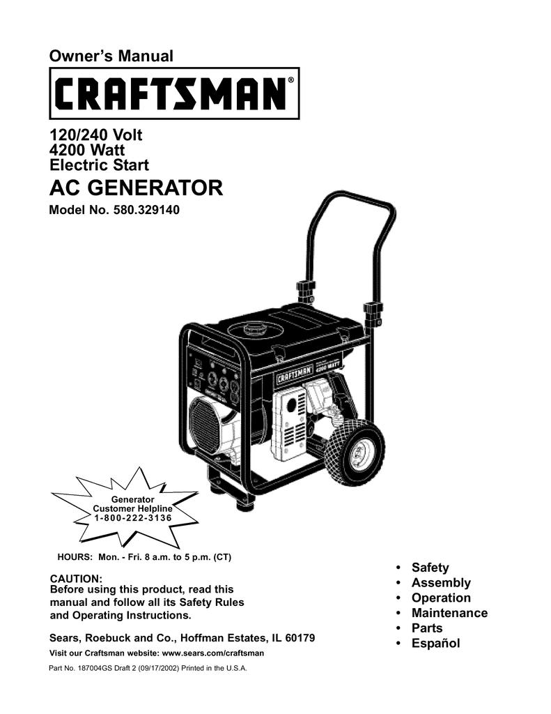 Craftsman 580.329140 Owner`s manual   Manualzz