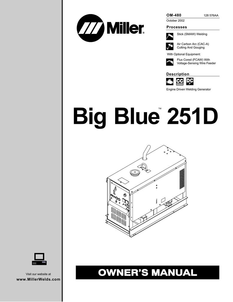 medium resolution of miller big blue 251d owner s manual