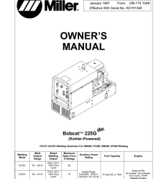 miller electric bobcat 225g owner s manual [ 792 x 1024 Pixel ]