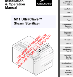 midmark m11 specifications [ 796 x 1024 Pixel ]