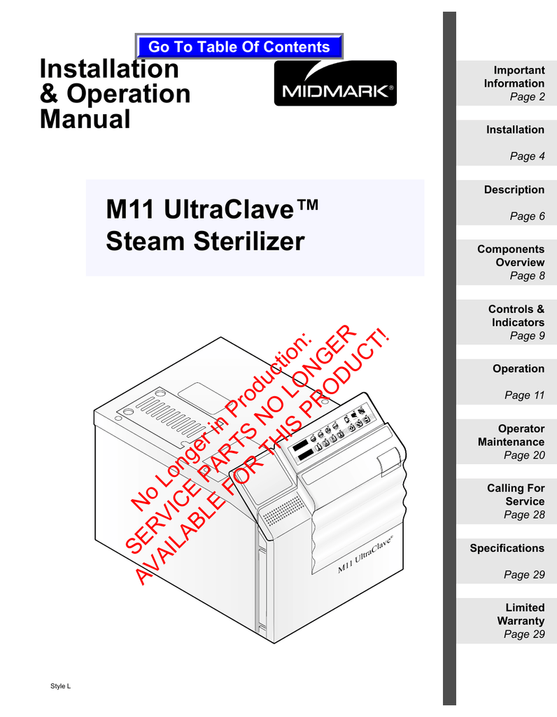 hight resolution of midmark m11 specifications