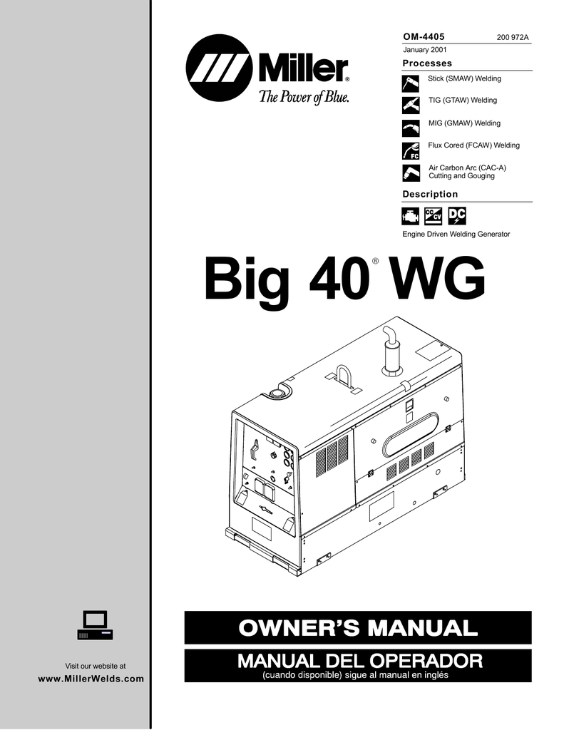 [WRG-7488] Miller Big 40 Wiring Diagram