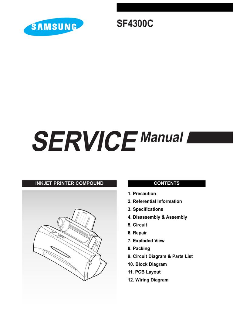 hight resolution of samsung sf 4300c service manual
