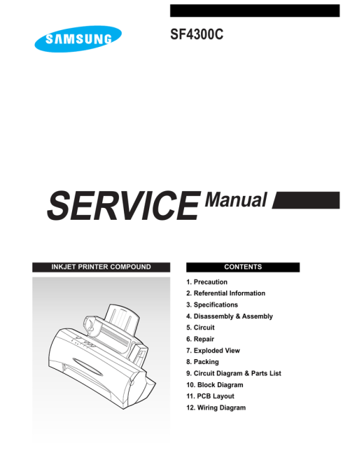 small resolution of samsung sf 4300c service manual