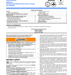 york yplcc operating instructions user s information manual efficiency rating certified models  [ 791 x 1024 Pixel ]