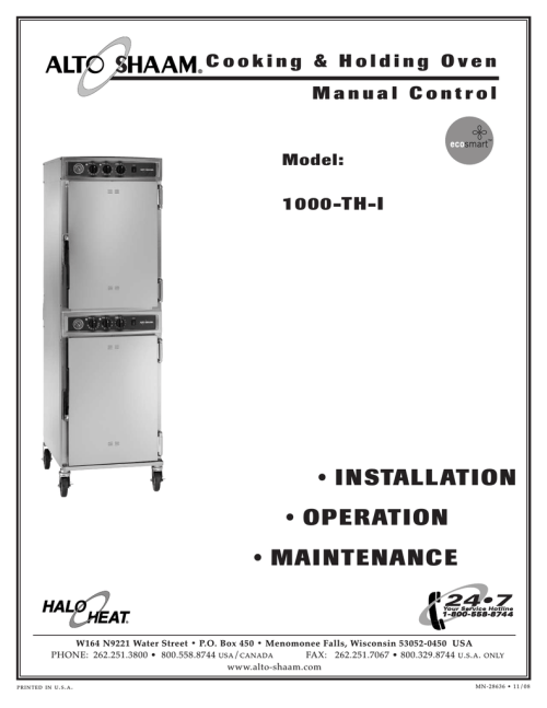 small resolution of alto shaam 1000 th i oven user manual