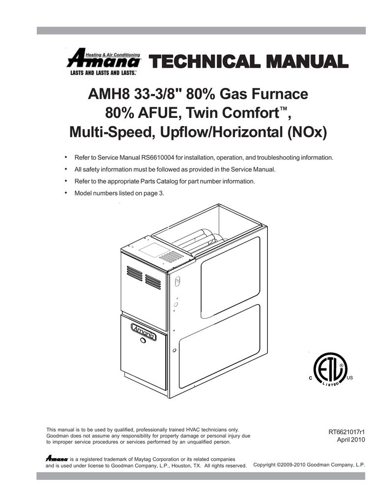 hight resolution of amana amh furnace user manual
