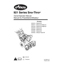 array ariens 921013 snow blower user manual manualzz com rh manualzz com [ 791 x 1024 Pixel ]