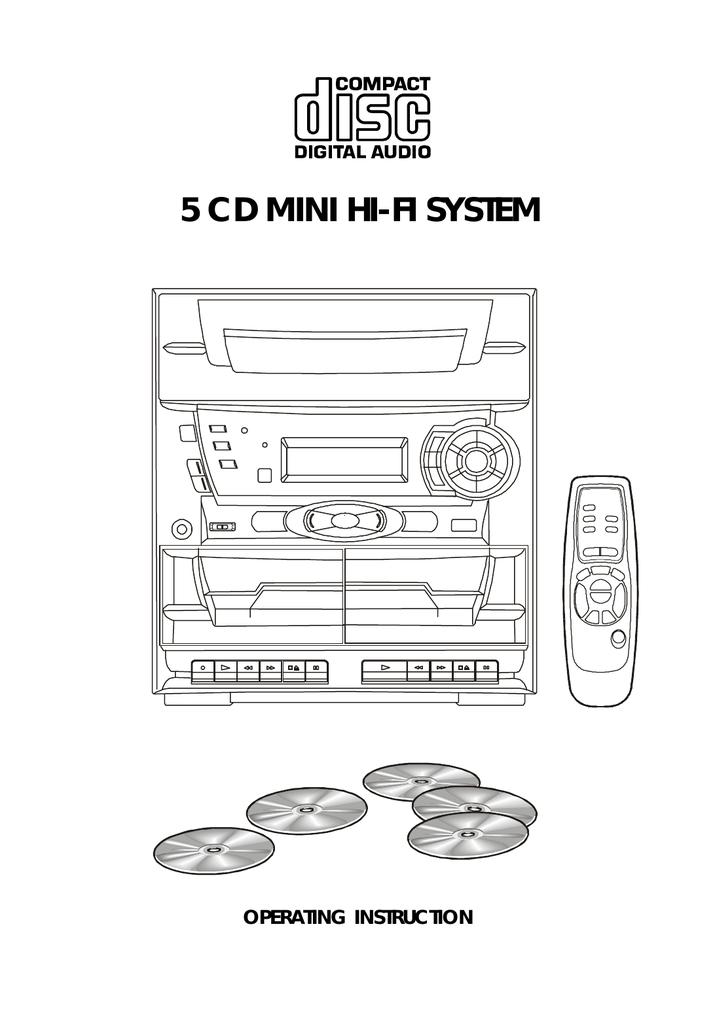 Audiovox Mini Hi-Fi System Stereo System User Manual