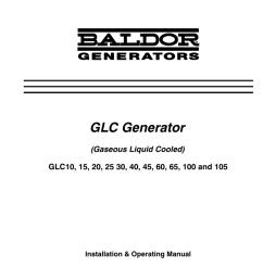 baldor glc105 portable generator user manual [ 770 x 1024 Pixel ]