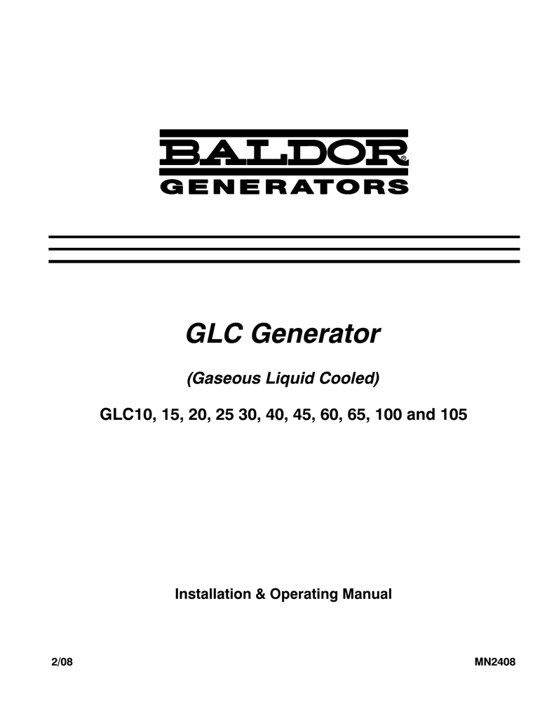 medium resolution of baldor glc105 portable generator user manual