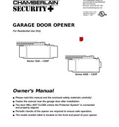 chamberlain 4200 1 2hp garage door opener user manual [ 791 x 1024 Pixel ]