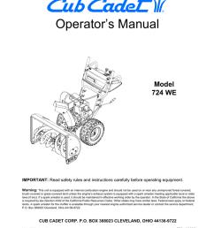 cub cadet 724we snow blower user manual [ 791 x 1024 Pixel ]