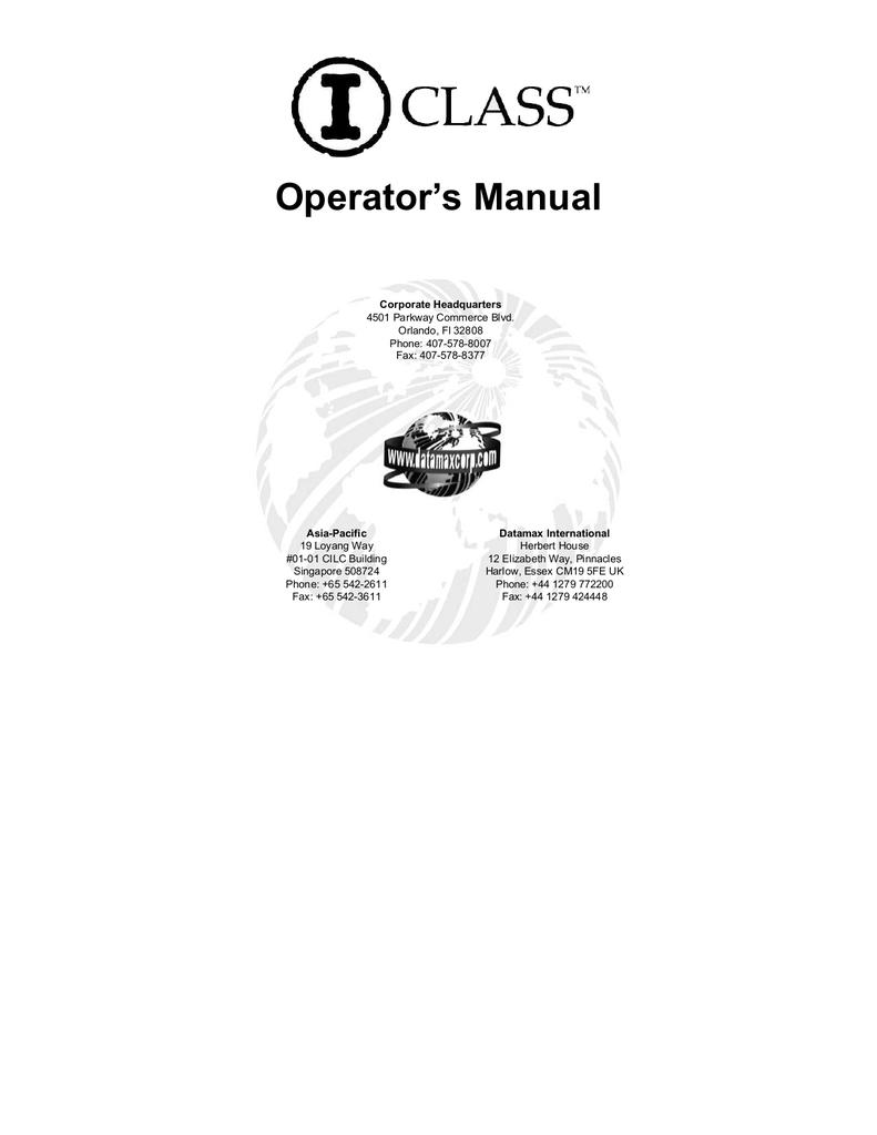 DATAMAX I 4208 USER MANUAL PDF