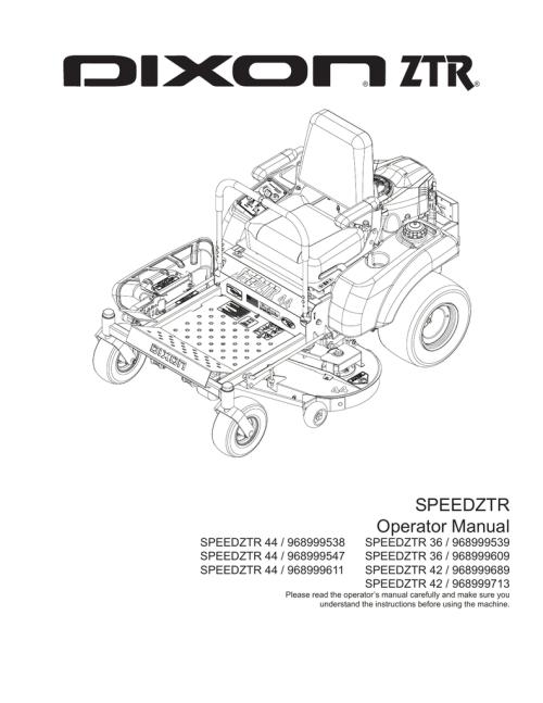 small resolution of dixon 44 44 44 36 36 42 42 lawn mower