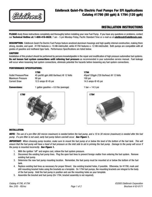 small resolution of edelbrock 1790 automobile parts user manual manualzz com edelbrock 1790 automobile parts user manual edelbrock 1790