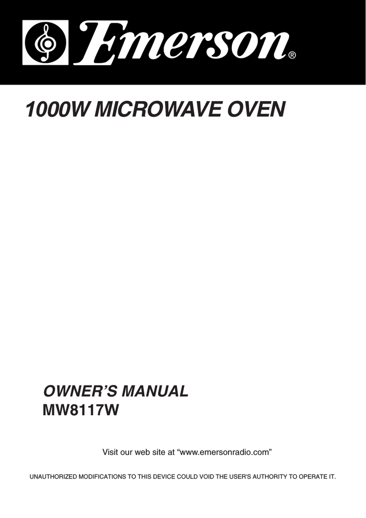 Emerson Microwave Professional Series Mw8117wBestMicrowave