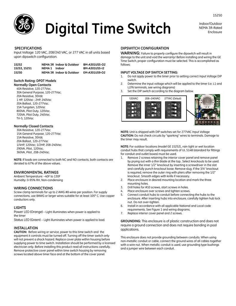 hight resolution of ge 120vac switch user manual