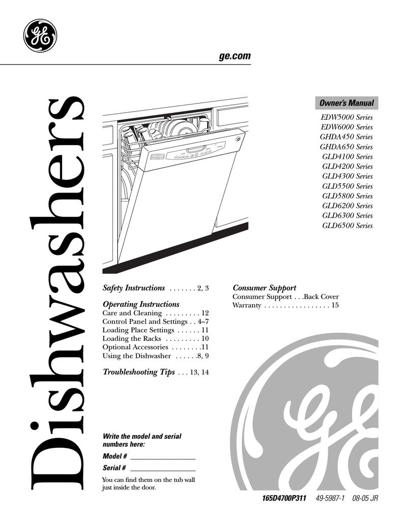 [MANULAS] Whirlpool Dishwasher Gu2300 User Guide Manuals