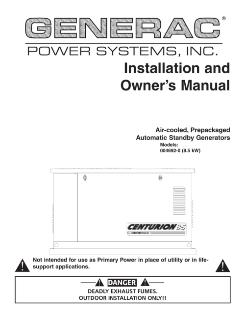 small resolution of generac 004692 0 portable generator user manual