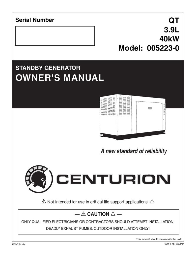 medium resolution of generac power systems 005213 0 portable generator user manual