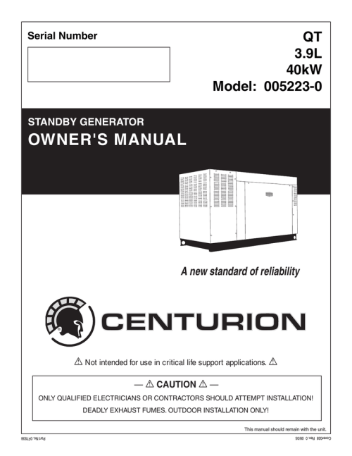 small resolution of generac power systems 005213 0 portable generator user manual