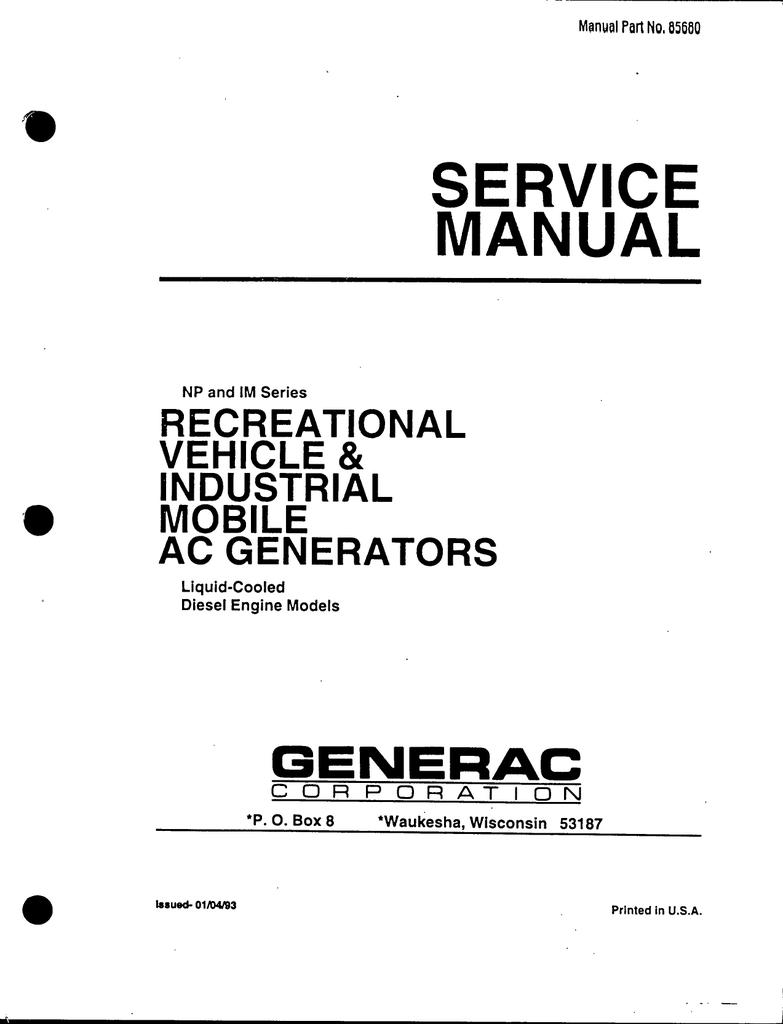 Generac Power Systems 53187 Portable Generator User Manual