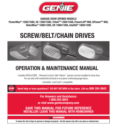 genie 1200 1500 garage door opener user manual manualzz com [ 804 x 1024 Pixel ]