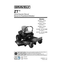gravely 915146 zt 34 lawn mower user manual [ 791 x 1024 Pixel ]