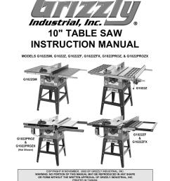 grizzly model g1022proz saw user manual [ 791 x 1024 Pixel ]