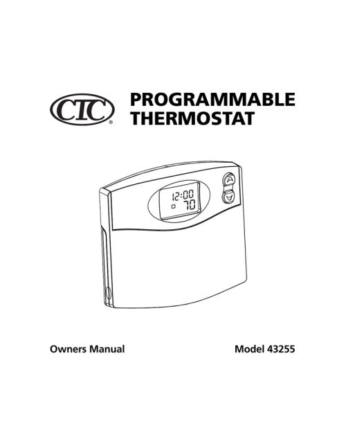 small resolution of hunter fan 43255 thermostat user manual