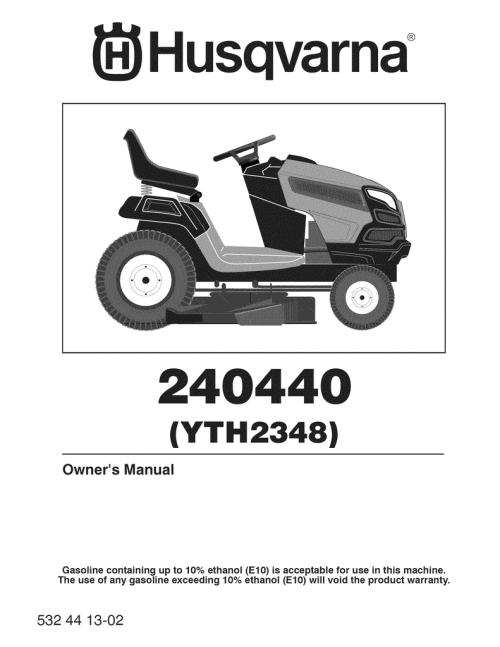 small resolution of husqvarna 240440 lawn mower user manual