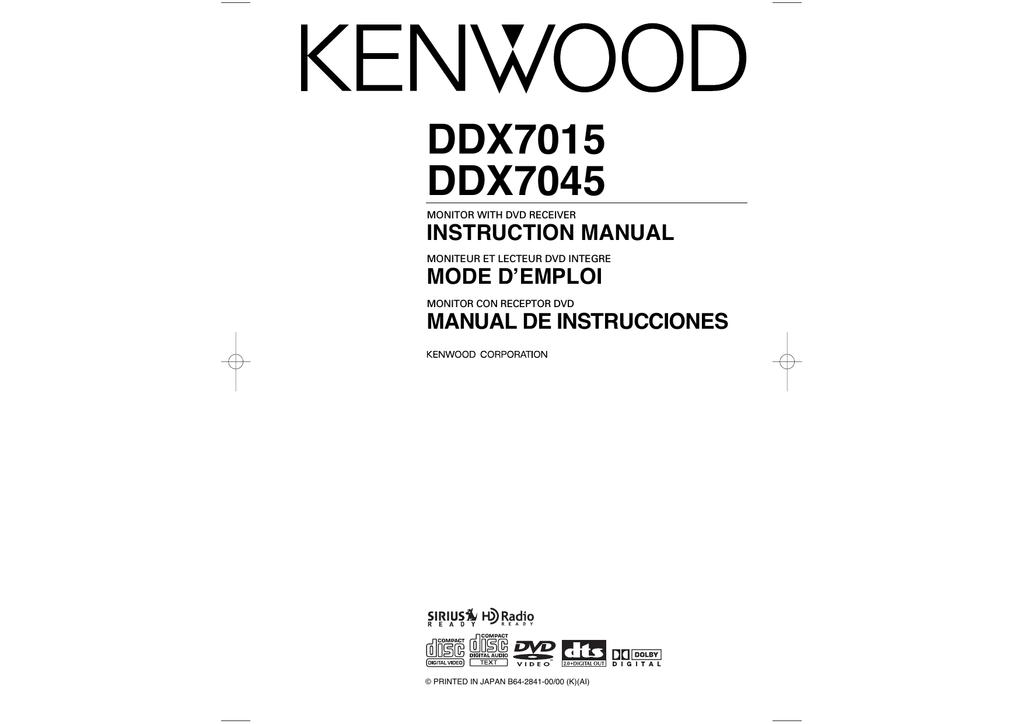 Mode Demploi Kenwood Km 28