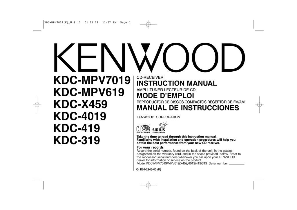Mode Demploi Radio Kenwood