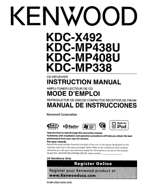 small resolution of kenwood kdc mp338 cd player user manual manualzz com instruction manual kenwood kdc mp338 cd player