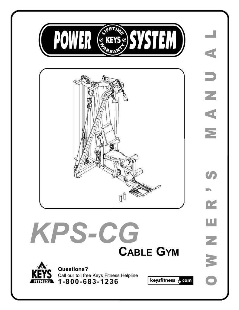 Keys Fitness Power System : fitness, power, system, Fitness, KPS-CG, Equipment, Manual, Manualzz