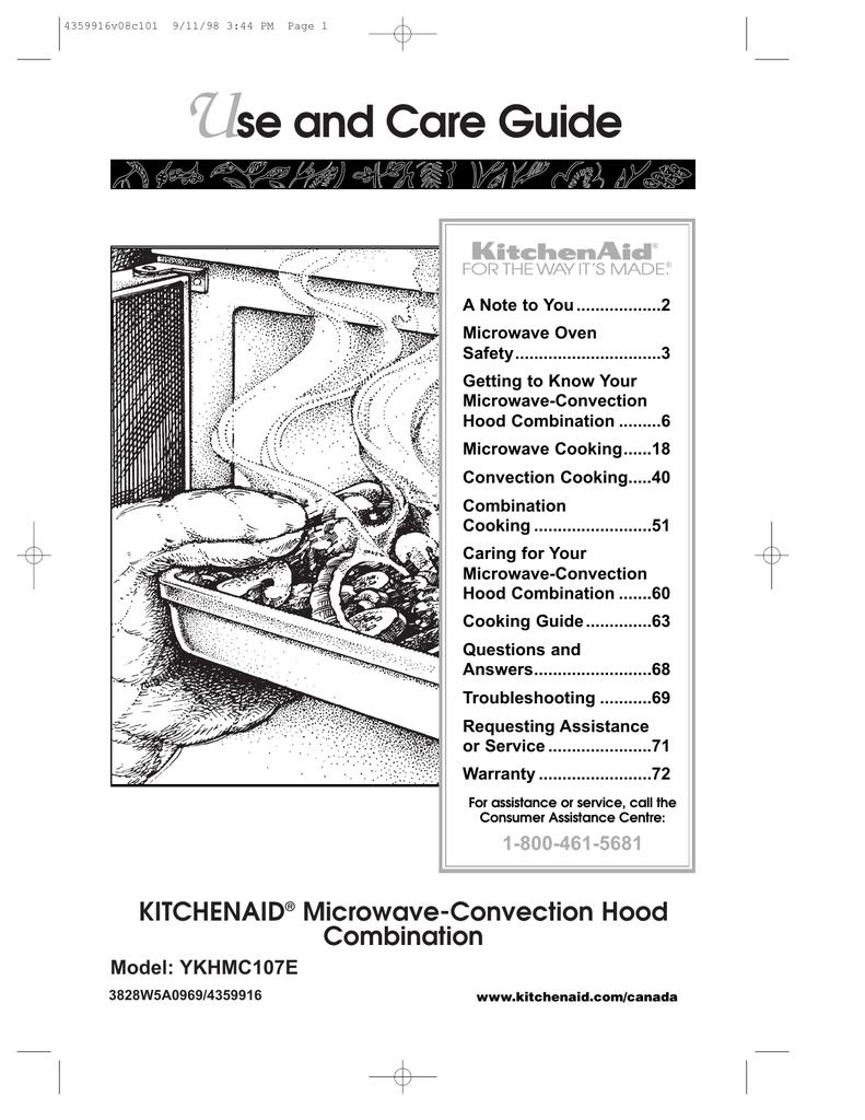 Kitchenaid Microwave And Oven Combo Manual