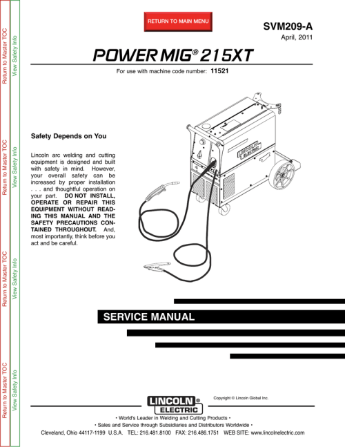 small resolution of lincoln electric 11521 welder user manual