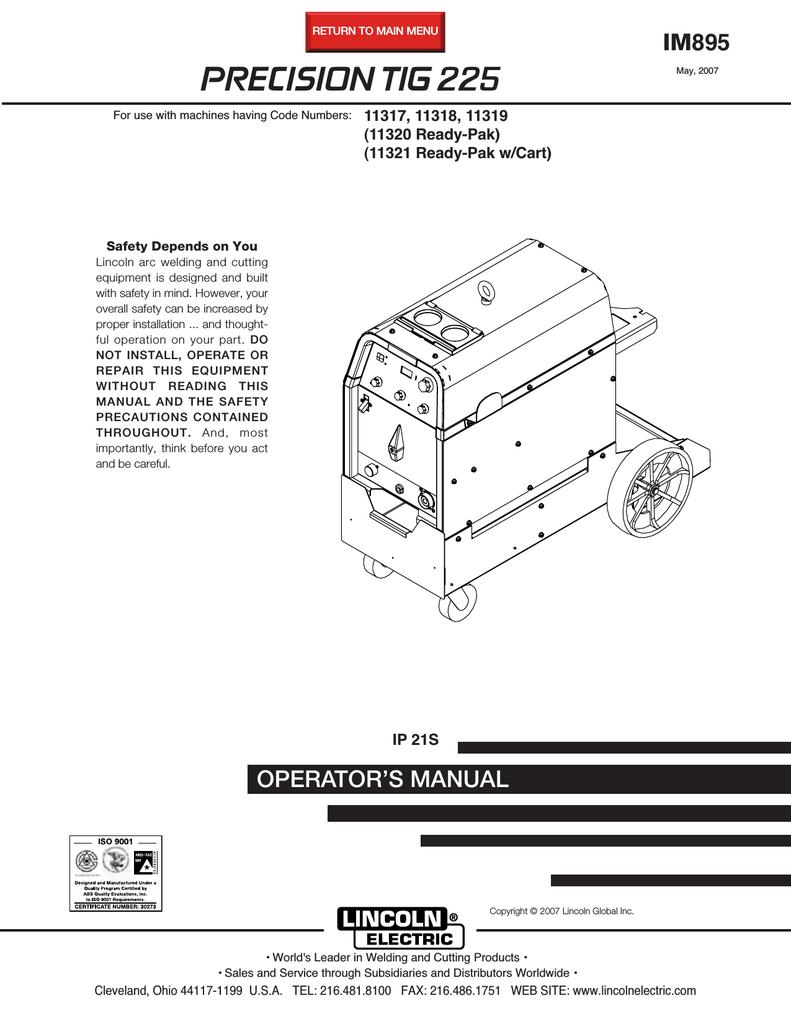 Lincoln Tig 225