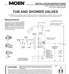 moen 2200 series plumbing product user manual [ 791 x 1024 Pixel ]
