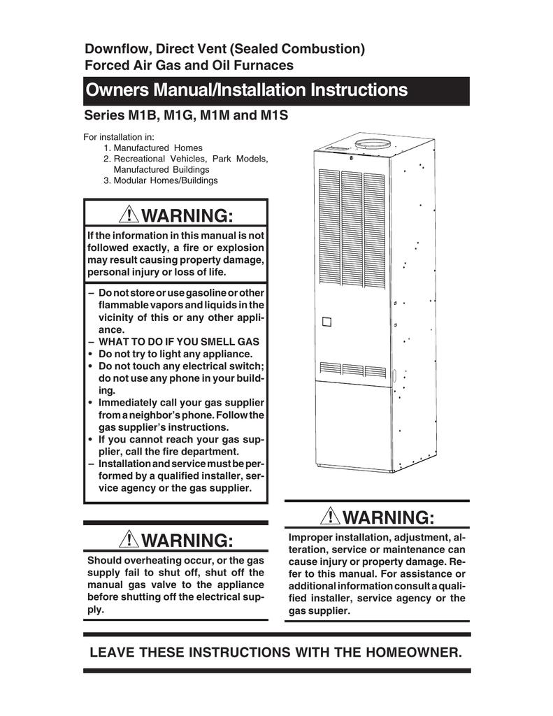 hight resolution of nordyne m1b furnace user manual