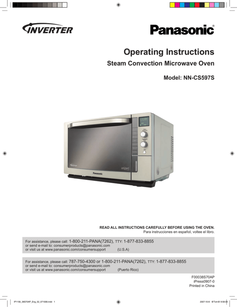 panasonic nn cs597s user manual manualzz