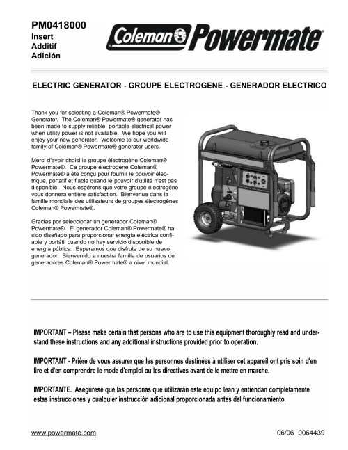 small resolution of it fixya on powermate pm0418000 portable generator user manual manualzz com on black max generator wiring diagram